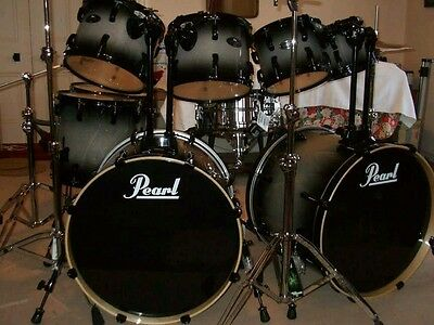 Pearl vision birch double bass 10 piece monster kit.