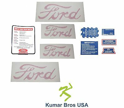 "New Ford 2N 8N 9N Tractor ""8N5052"" Decal Set With Proof Meter"