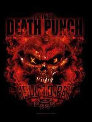 5 Finger Death Punch Hell To Pay  Music Flags Wall Hanger From Italy Silk L1176