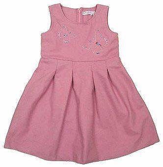 Toddler Girl autumn winter embroidered pink dress 2-3Years