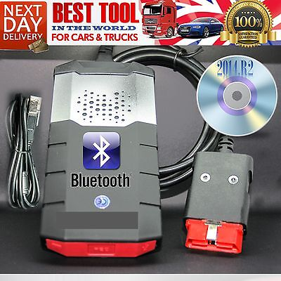 Bluetooth 2014 R2 Car Truck Auto Diagnostic Scanner Software Universal Must Have