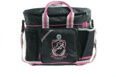 HySHINE Complete Pro Grooming Bag Black, Pink & Grey Horse Grooming Boxes & Bags