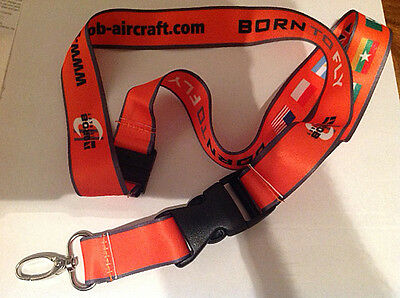 NEW - grob aircraft  lanyard  ID holder.nice colour BORN TO FLY