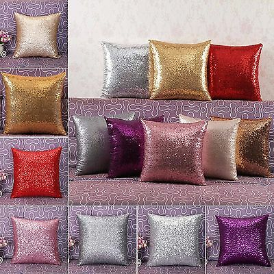 39x39 Solid Glitter Sequin Throw Pillow Case Home Car Decor Waist Cushion Cover