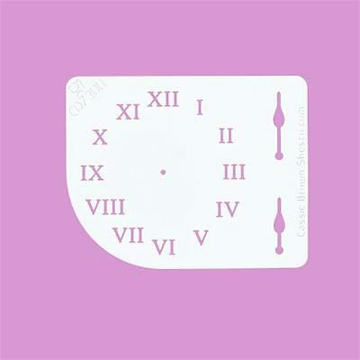 Cakecraft Clock Face Stencil By Cassie Brown for Cake decorating