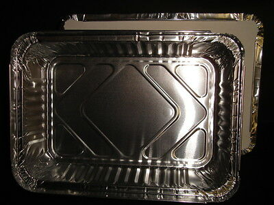 "100 x Foil Container 8""x 5.5""x 1.75"" FAST FOOD TAKEAWAY KEBAB CATERING  (0313/9)"