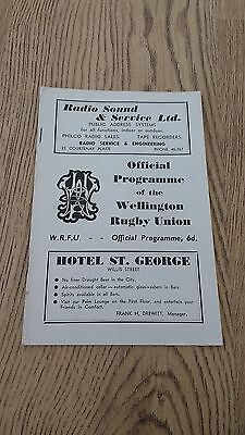 Oriental v Onslow 1951 Rugby Union Programme