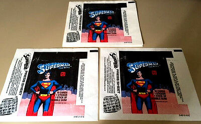 Superman The Movie - 10x Wax Pack Card Wrappers - 1979 TOPPS - Slight Tears !!!