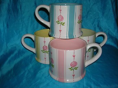 Marks and Spencer 4 x Tea Rose Mugs 3.5""