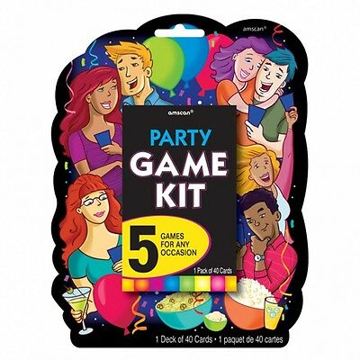 New Year / Christmas Party Games Cards - 5 Games in 1 Pack Games Kit