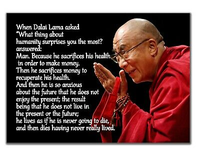 Dalai Lama Humanity Famous Quote Motivational Inspirational Print Poster Picture