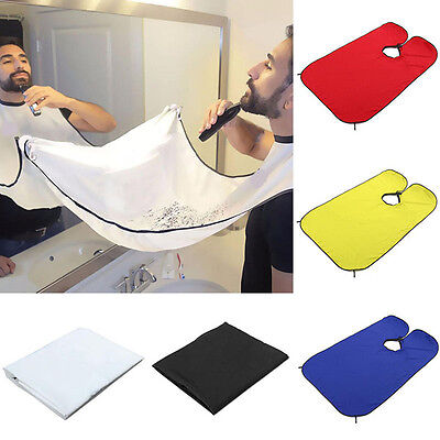 Practical Beard Care Shave Apron Cather Cape Bib Trimming Facial Hair Bathroom