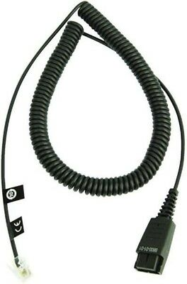 Jabra QD Cord to RJ9 Cable End Piece Coiled 0.5 - 2m | Standard Assignment