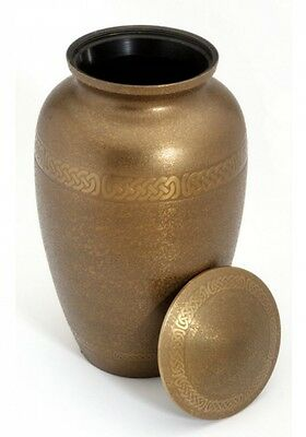 Bath Gold Cremation Ashes Urn - Adult - Solid Brass - Screw Lid