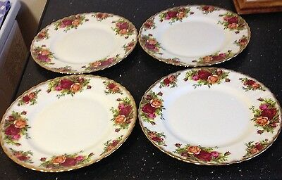 """Royal Albert Old Country Roses Dessert Plates x 4 (8.1/4"""")"""