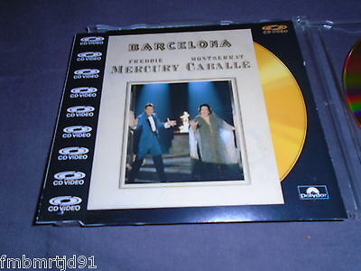Freddie Mercury + Montserrat Caballe - Barcelona CD Video Single (Queen)