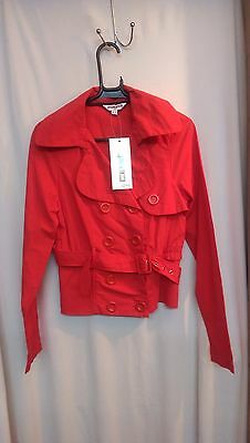 New Look Girls Jacket Size 14-15 Years Brand New Red