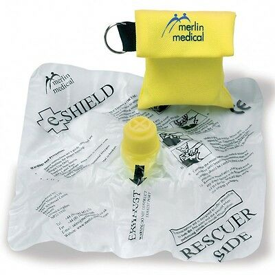 Merlin E-Shield Disposable Mouth to Mouth Resuscitation Mask in Keyring Pouch