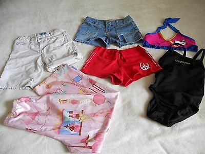 6pc Lot Of Girls Size 8 Shorts  PJs Swimsuit Justice So Speedo TCP
