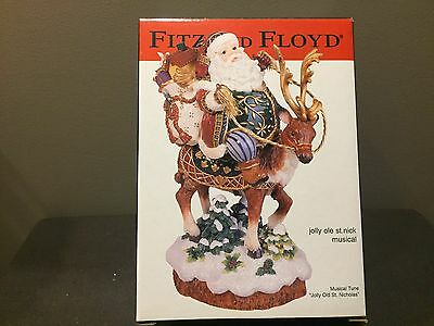 Fitz And Floyd Jolly Ole St. Nick Musical - Mint In Box!