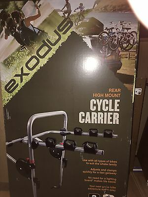 Halfords EXODUS Rear High Mount Cycle Carrier - 3 Bike New in Box