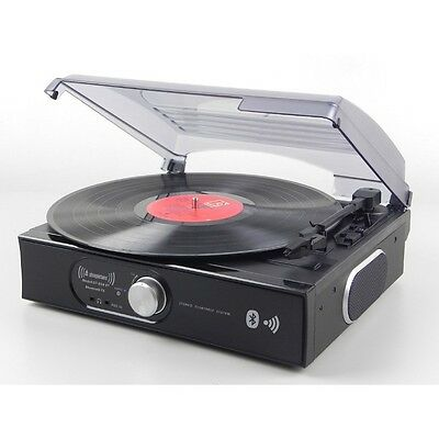 Steepletone ST938 BK Hi-Fi Record Player Turntable with Speakers and Bluetooth