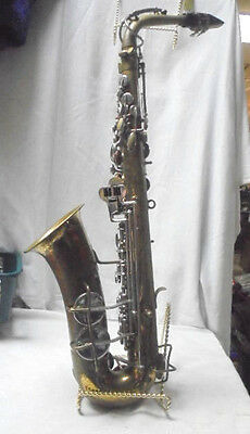 Vintage Bundy H&a Selmer Inc Saxophone With Pearl Buttons