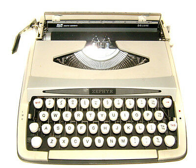 1960s Smith Corona Zephyr Deluxe Typewriter Vintage Office Equipment Desktop