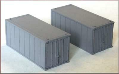 Knightwing H6 International 20' Containers 2 Pack - White Plastic Kit - OO Gauge