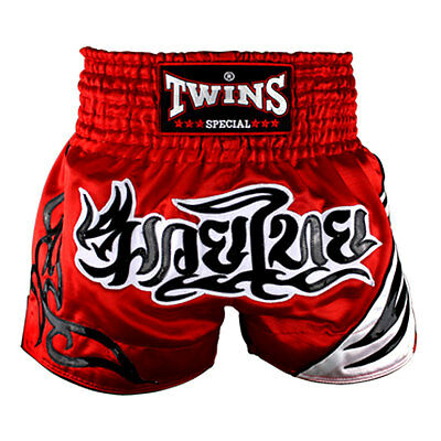 Twins Red-White Muaythai Shorts Sparring Training