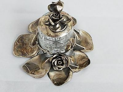 S. Zilka Sterling Silver 925 Hand Made Sugar Glass Holder
