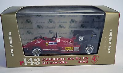 Brumm 1/43 Scale Model 1984 F1 Ferrari 126 C4