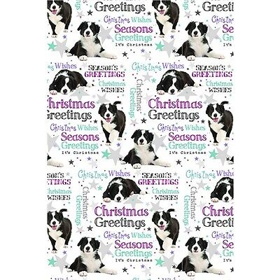 Christmas Wrap & Tags - Season's Greetings From Christmas Pup (6 Sheets+Tags)