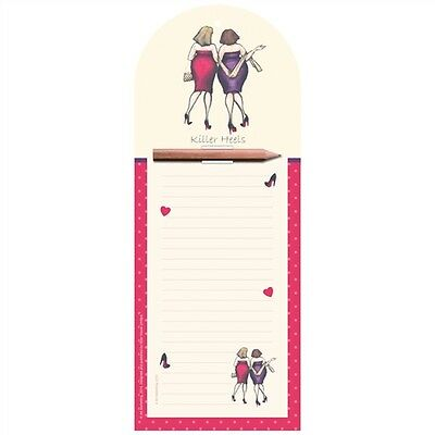 Ladies Who Lunch Stationery - Magnetic Notepad (Killer Heels)