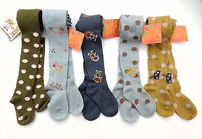 Girls quality LOURDES TIGHTS Olaire Infantil 100% cotton 4-6Y various BNWT