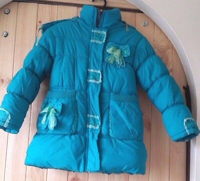 Winter Kids Girls Baby Hooded Warm Down Jacket Puffer Coat Clothes Blue Children