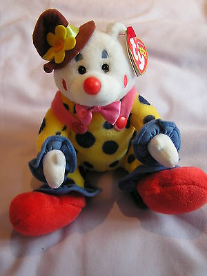 Ty Beanie Babies Juggles The Clown- Excellent condition- 2004
