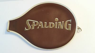 VINTAGE SPALDING Tennis Racquet Cover - Smasher 3 -