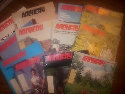 vintage bowhunting magazine, 1973 ARCHERY, 12 issues..full year..