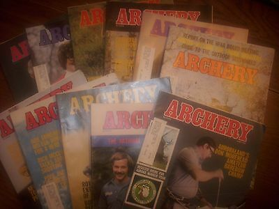 vintage bowhunting magazine, 1978 ARCHERY, 11 issues..