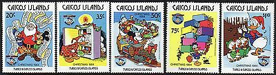Caicos Islands 1984 Christmas Disney Cartoon Characters SG 62 - 66 un/mint