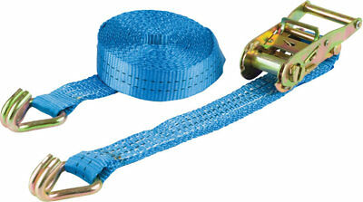 Warrior Ratchet Strap with Claw Hooks 5m x 50mm 2 Tonne 2000kg Rated BDV1573CP