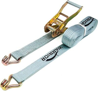 Warrior Ratchet Strap with Claw Hooks 6m x 50mm 5 Tonne Rated BDV1575CP