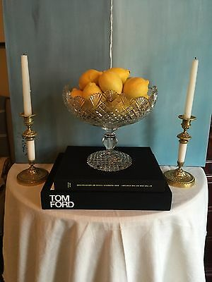 Antique Anglo Irish Cut Crystal Compote Bowl