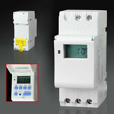 New THC15A DIN Rail Mounting Weekly Digital Programmable Timer Switch AC 220V