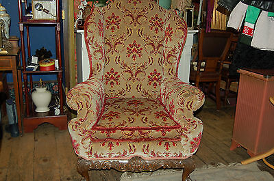 Georgian style wing armchair,lounge,study,den,conservatory