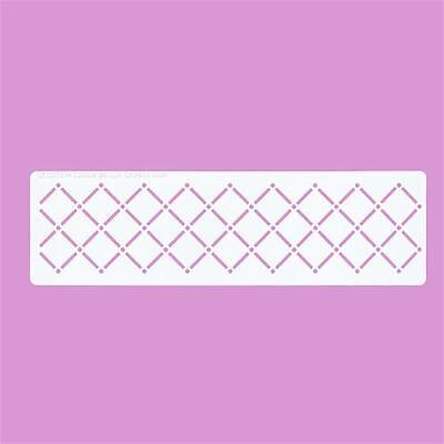 Cakecraft Quilted Border Stencils Ideal for Cassie Brown Airbrush
