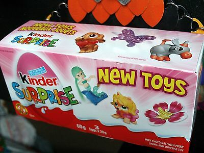NEW Kinder Surprise for Girls 3pack box with chocolate