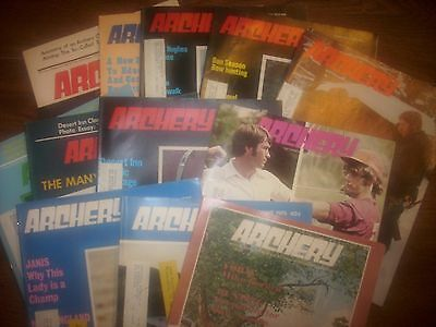 vintage bowhunting magazine, 1975 ARCHERY, 12 issues..full year..