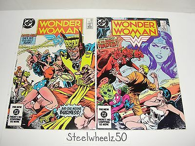 Wonder Woman #316 & 317 Comic Lot DC 1984 Cerebrus Huntress Solo Story Don Heck